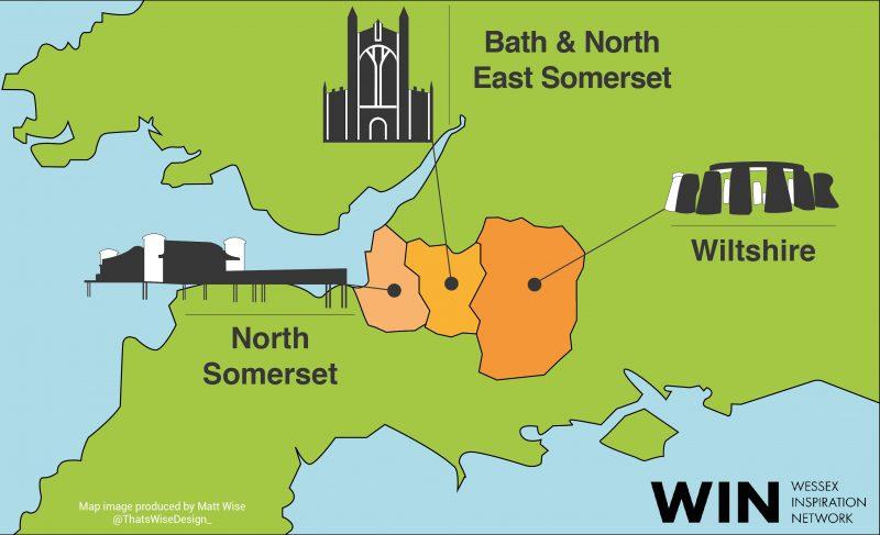 Map showing WIN regions