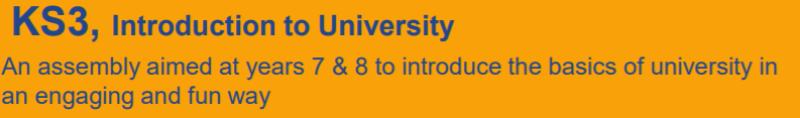 WON - Keystage 3: Intro to University